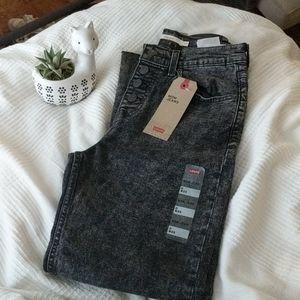 👖Acid Wash Dark Grey Mom Jeans LEVI'S 👖